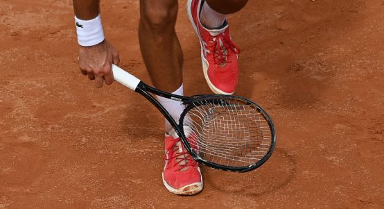 Novak Djokovic's broken racket