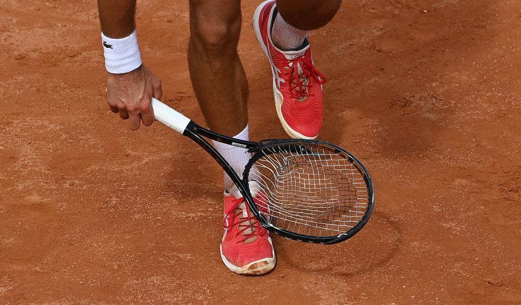 Novak Djokovic's broken racket