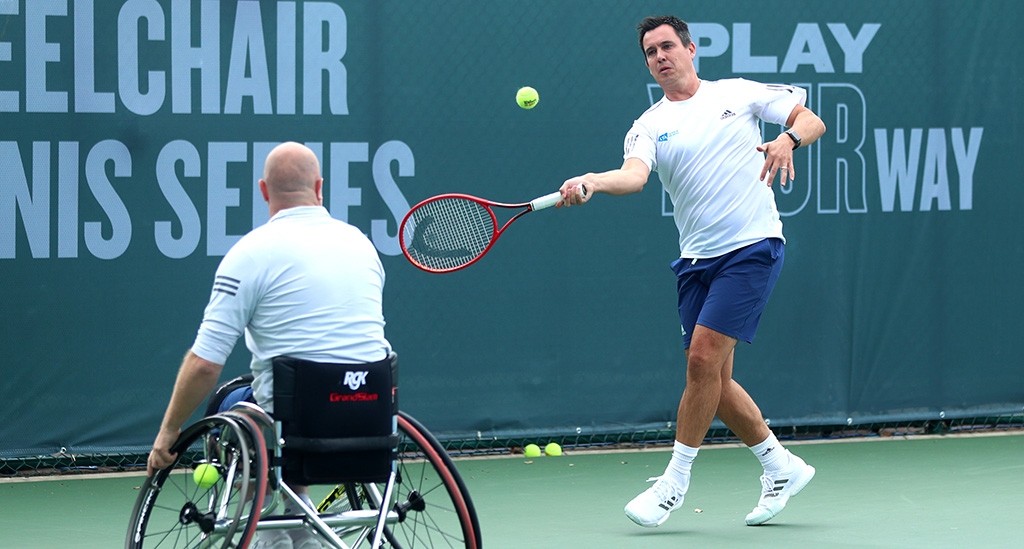 Rob Cross on wheelchair tennis