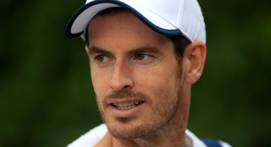 Andy Murray looking on