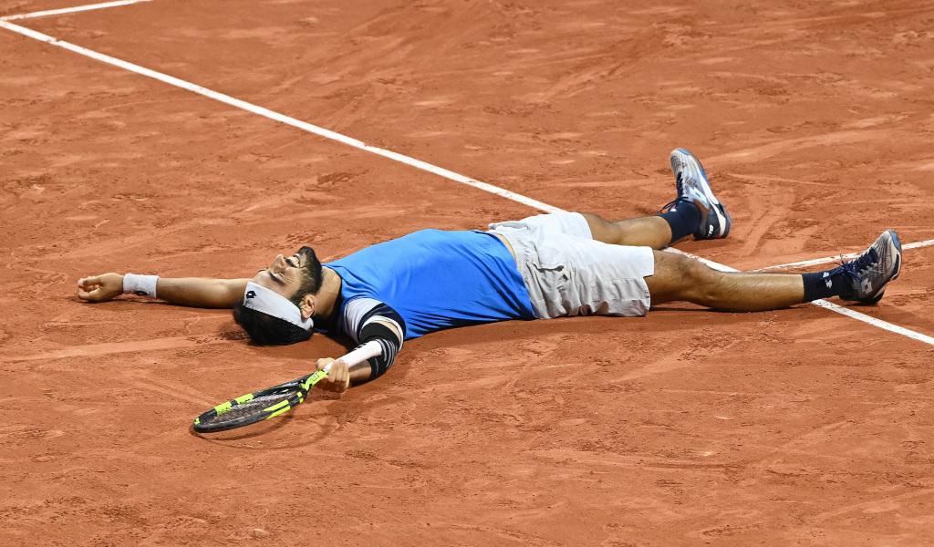 Lorenzo Giustino celebrates French Open win