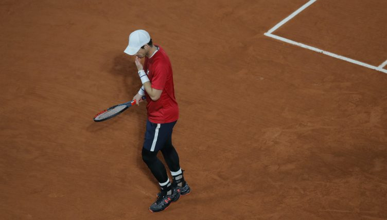 Andy Murray downbeat
