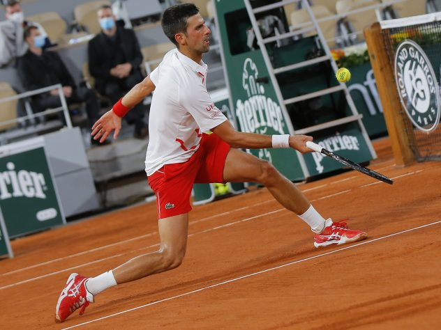 Novak Djokovic produced a composed display to coast into the second round