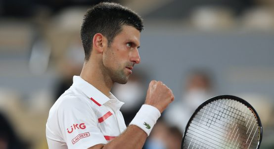 Novak Djokovic in the mood