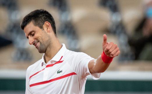 Novak Djokovic thumbs up