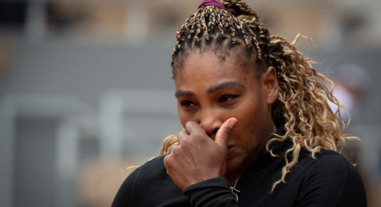 Serena Williams downbeat