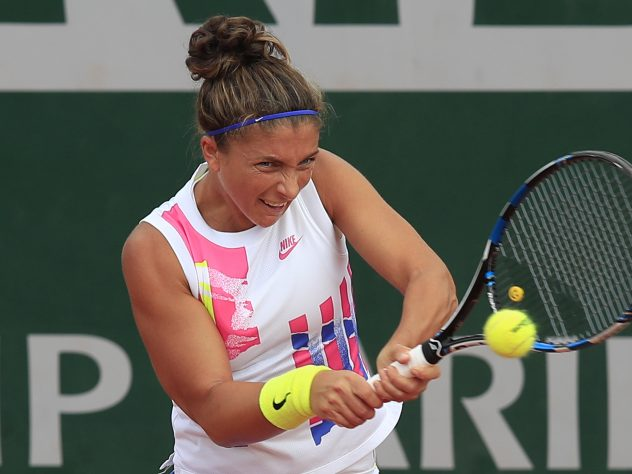 Sara Errani was not happy with the conduct of her opponent