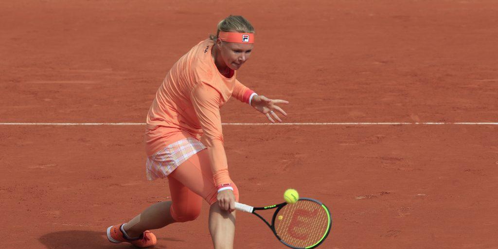 Kiki Bertens in action