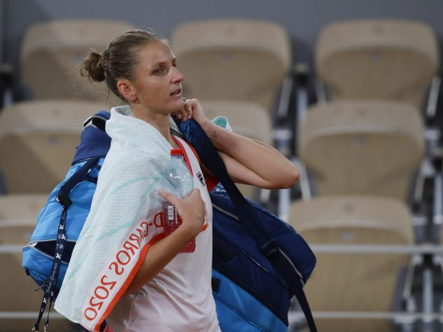 Karolina Pliskova made another early exit at a grand slam