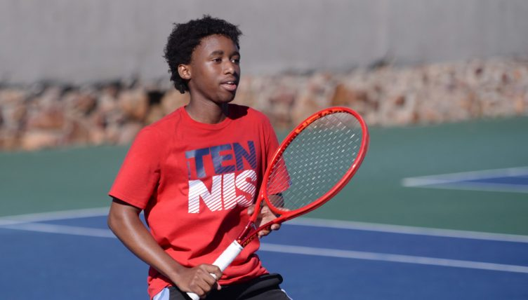 Khololwam Montsi at the Anthony Harris Tennis Academy