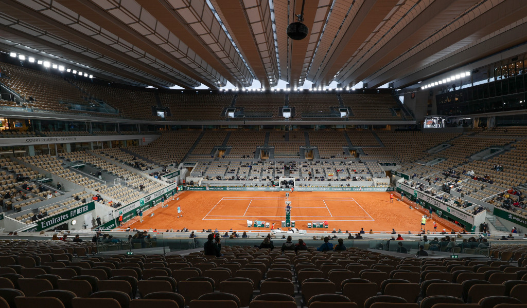 French Open Roland Garros under closed roof