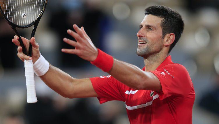 Novak Djokovic feeling the love