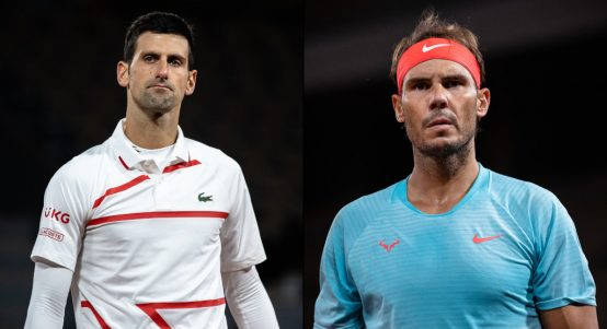 Novak Djokovic and Rafael Nadal French Open men's final