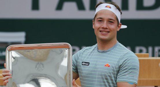 Alfie Hewett at Roland Garros
