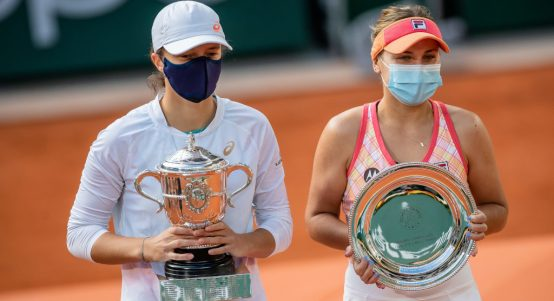 Iga Swiatek and Sofia Kenin French Open