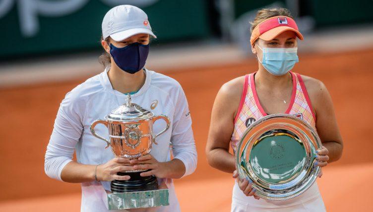 Iga Swiatek and Sofia Kenin French Open