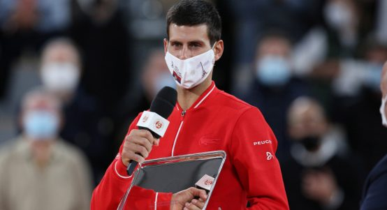 Novak Djokovic French Open runner-up