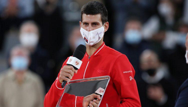 Novak Djokovic French Open runner-up