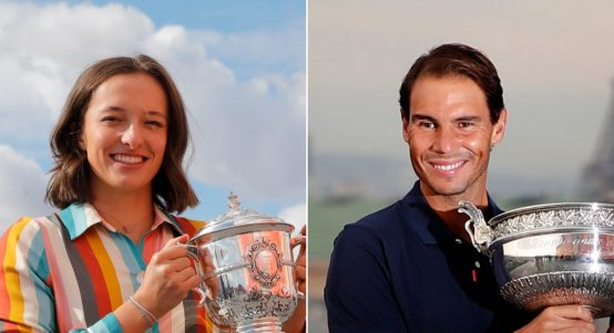 Iga Swiatek and Rafael Nadal