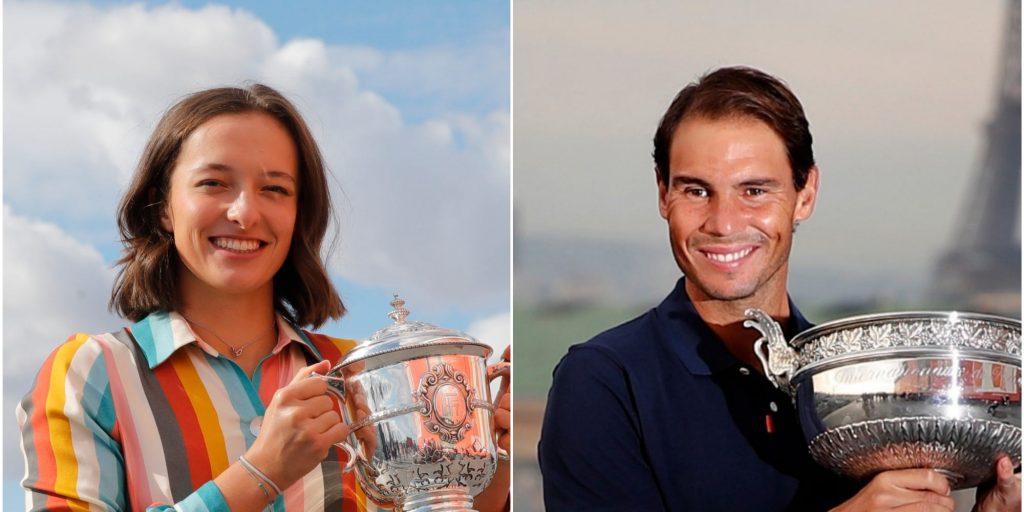 Iga Swiatek and Rafael Nadal