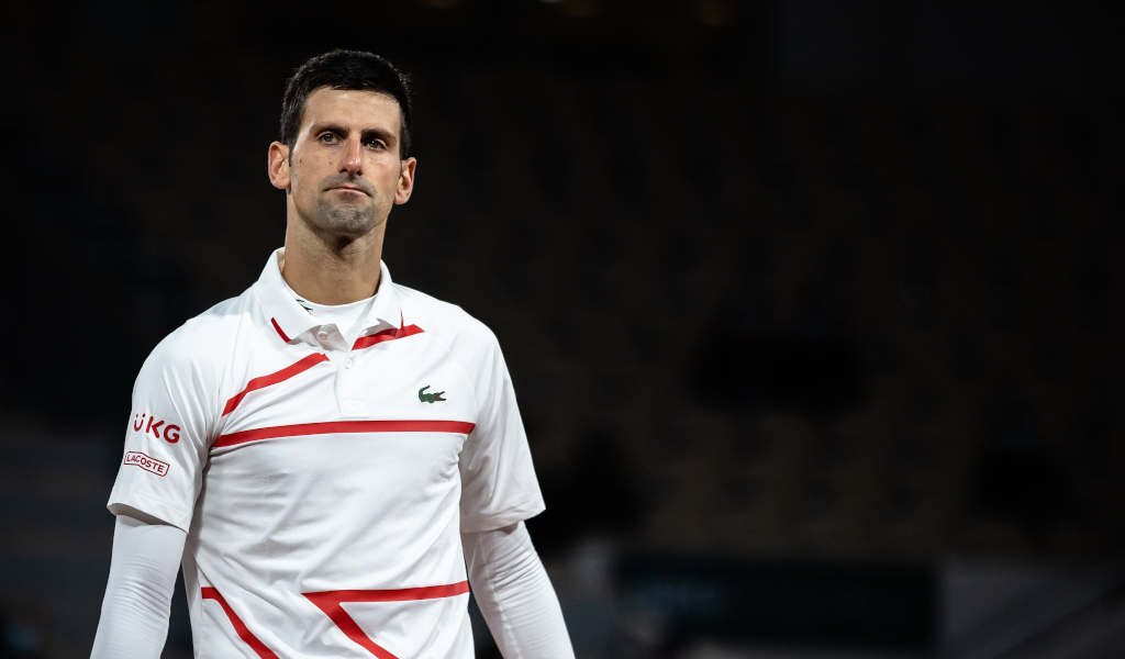 Novak Djokovic on court