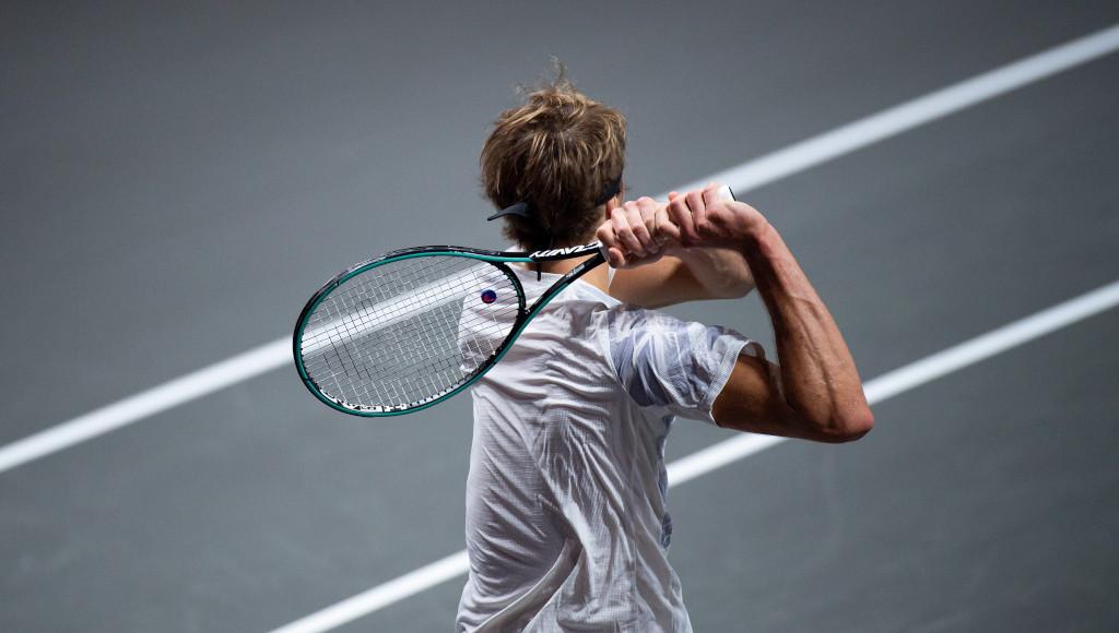 Alexander Zverev in action