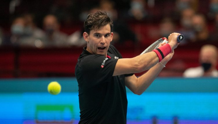 Dominic Thiem in action