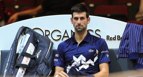 Novak Djokovic deep in thought