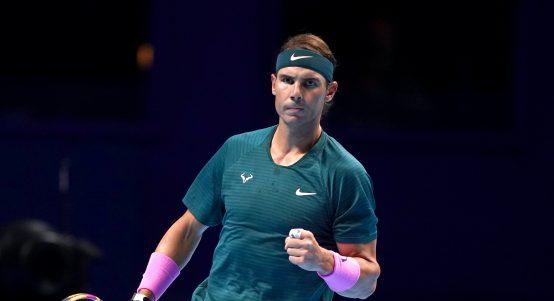 Rafael Nadal celebrating