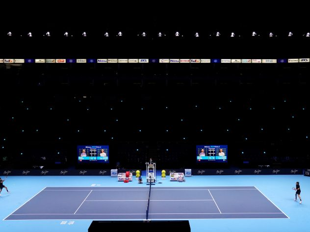 The match was played in front of a virtually empty arena