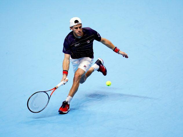 Diego Schwartzman was dragged all around The O2 arena by Novak Djokovic