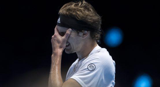 Alexander Zverev frustrated