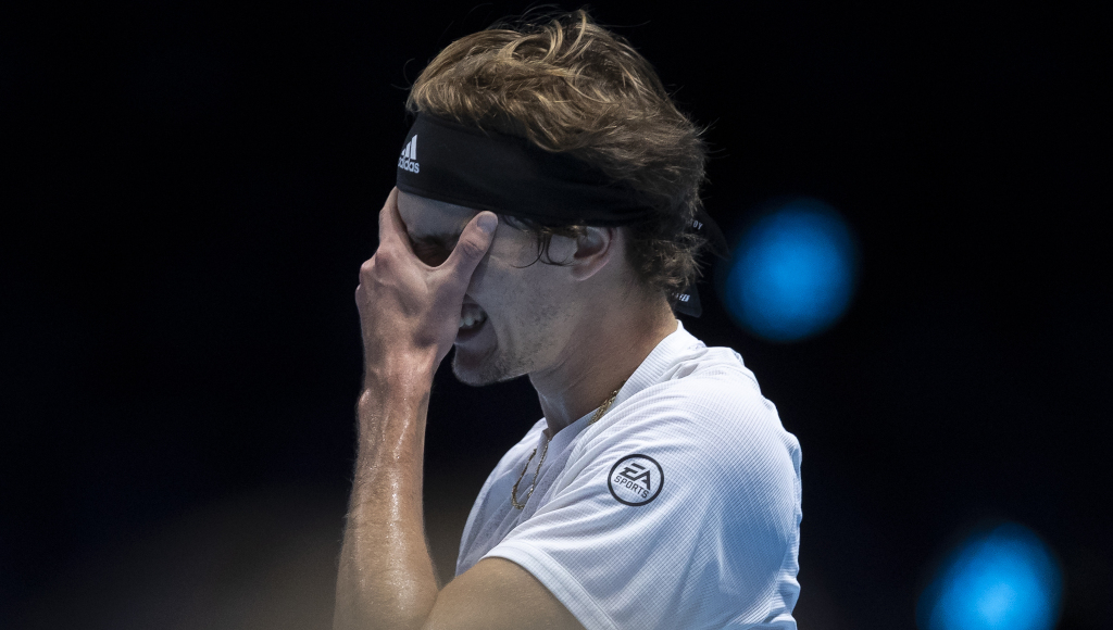Alexander Zverev frustrated