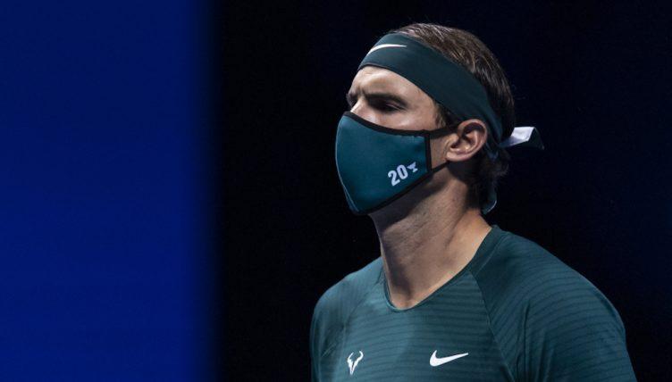 Rafael Nadal masked up