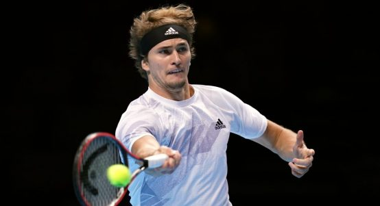 Alexander Zverev in action