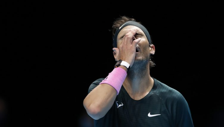 Rafael Nadal feeling the heat