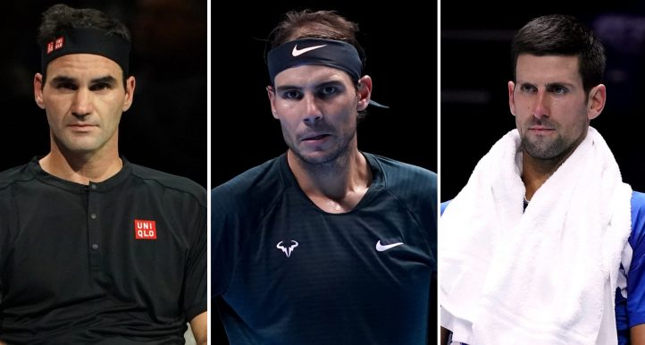 Roger Federer, Rafael Nadal and Novak Djokovic