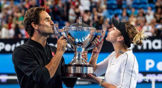 Roger Federer and Belinda Bencic Hopman Cup