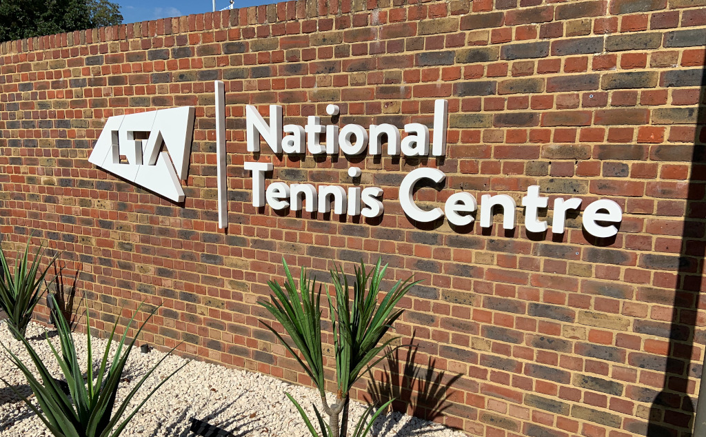 LTA's National Tennis Centre entrance
