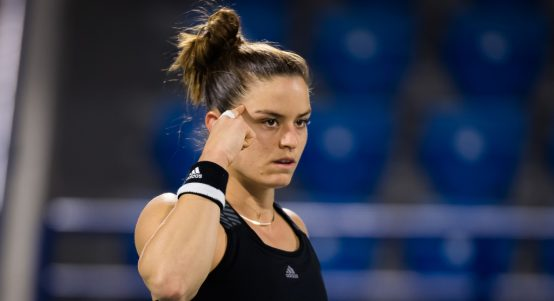 Maria Sakkari in action