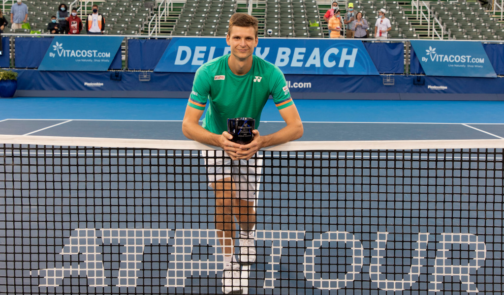 Hubert Hurkacz Delray Beach Open champion