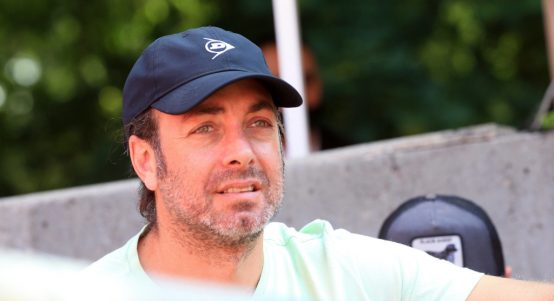 Dominic Thiem's coach Nicolas Massu in the stands