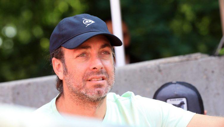 Dominic Thiem's coach Nicolas Massu in the stands