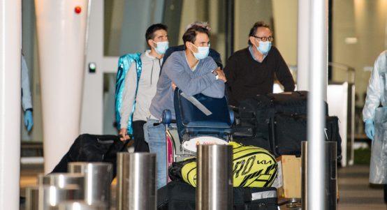 Rafael Nadal arrives in Australia