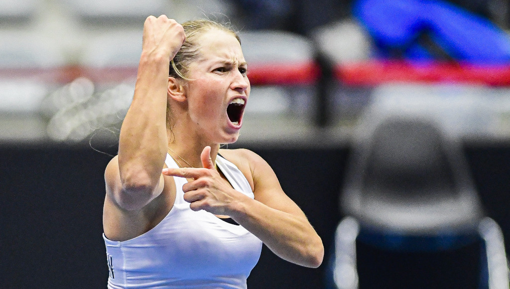 Yulia Putintseva screaming
