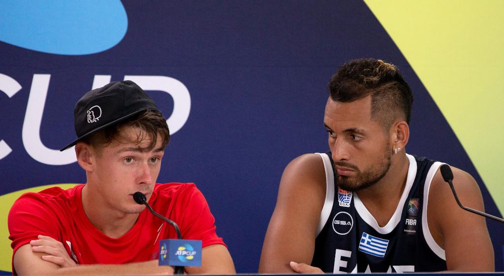 Alex de Minaur and Nick Kyrgios press conference