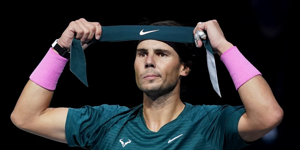 Rafael Nadal on court
