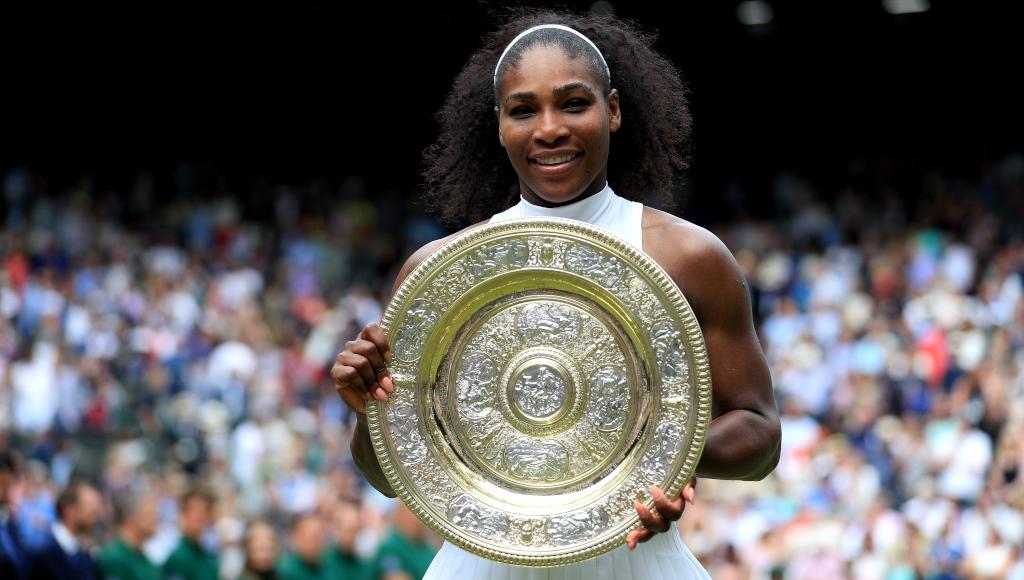 Serena Williams 2016 Wimbledon trophy