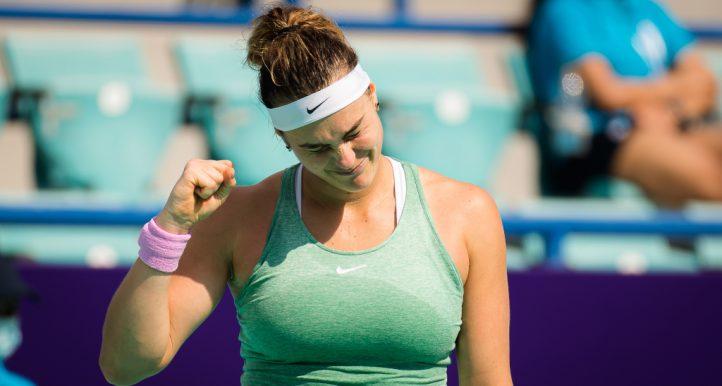 Aryna Sabalenak fist pump