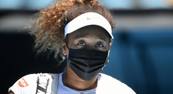Naomi Osaka masked up